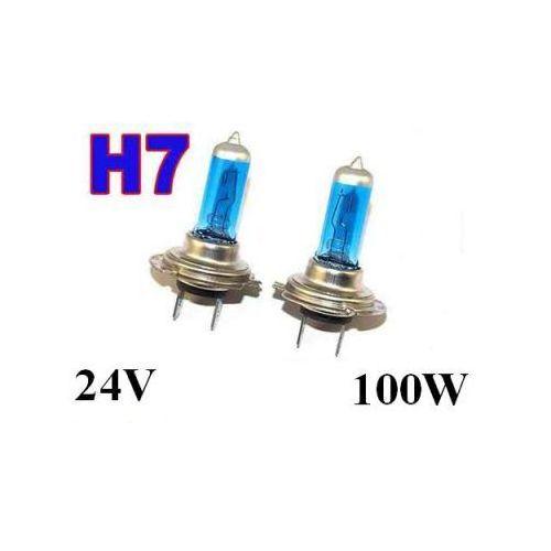 Żarówki (2szt.) h7 xenon h.i.d. light blue do ciężarówek... (24v - moc 100w) - homologowane. marki Emark/variant