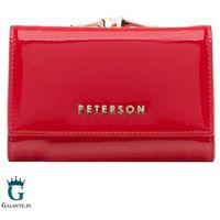 Mały lakierowany portfel damski peterson bc412 rfid