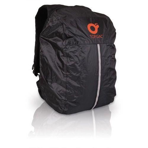 Peleryna na plecak Topgal TOP 113 A - Black, kolor czarny