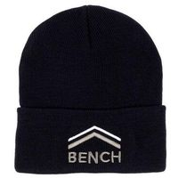 czapka z daszkiem BENCH - Turn Up Beanie With Graphic Black Beauty (BK11179)
