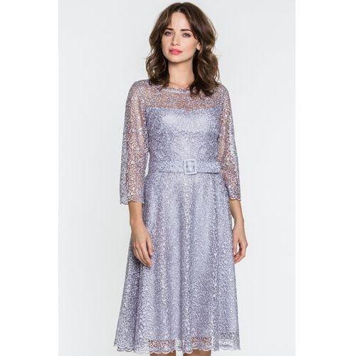 8cf71fbba86ed0 Szara sukienka koronkowa z cekinami (GaPa Fashion) - sklep ...