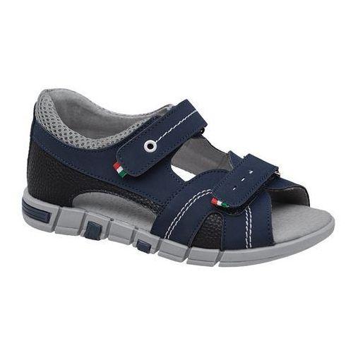 Sandałki dla chłopca 6337 c.granatowe - granatowy ||multikolor marki Kornecki
