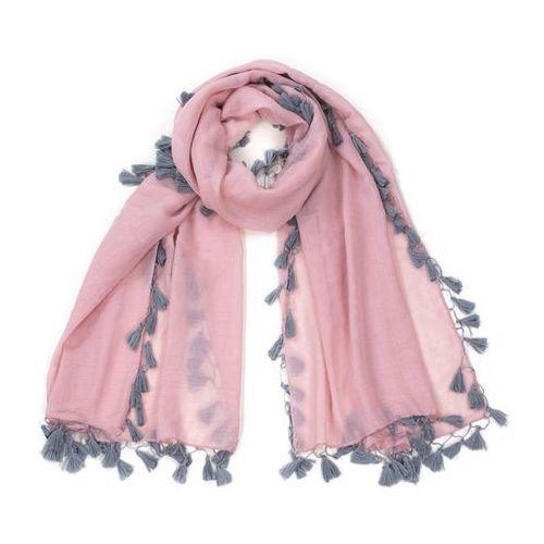 Art Szal piórka różowy - różowy
