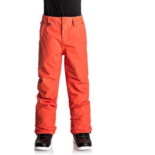 Quiksilver ESTATE YOUTH Spodnie narciarskie mandarin red, kolor pomarańczowy