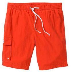 Bermudy plażowe z kieszenią z boku nogawki Regular Fit bonprix głęboki pomarańczowy