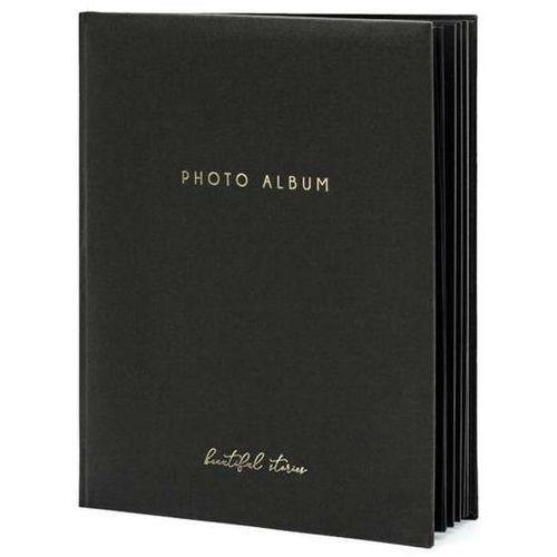 """Album na zdjęcia """"Beautiful Stories"""", PartyDeco, 20 x 24,5 cm, czarny, 22 kartki (5902230789104)"""