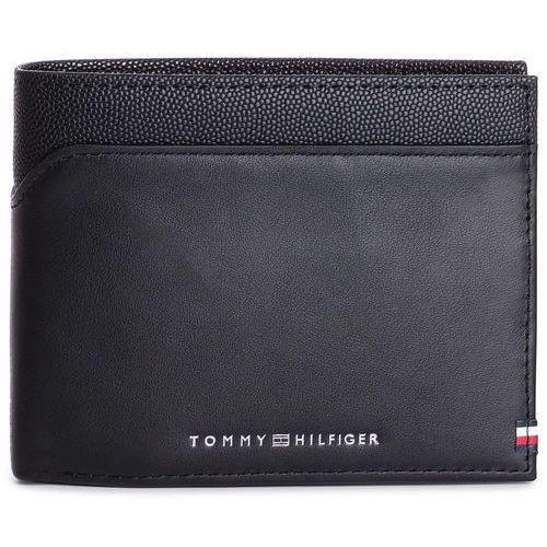 Duży Portfel Męski TOMMY HILFIGER - Bi-Material Cc Flap And Coin AM0AM04539 002