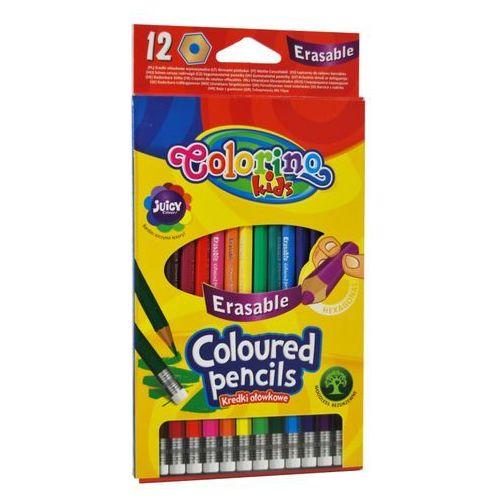 Patio-colorino Kredki ołówkowe wymazywalne 12 kolorów colorino (5907690892531)