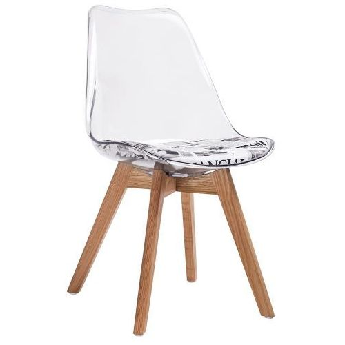 King home Krzesło nordic clear pw072pc - - sprawdź kupon rabatowy w koszyku