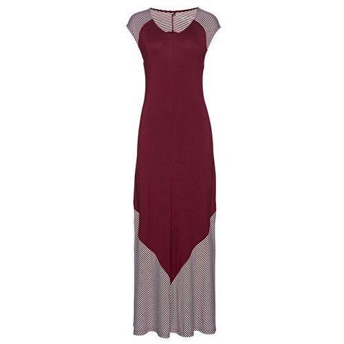 Bonprix Sukienka czerwony klonowy + biały