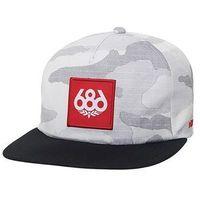 czapka z daszkiem 686 - Knockout Snapback Hat White Camo (WHT)