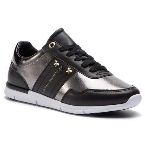 0a8e376ef566a Tommy hilfiger Sneakersy - tommy essential leather sneaker fw0fw03688 black  990