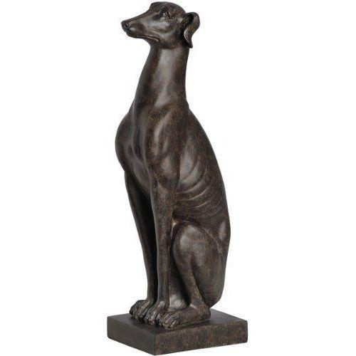 Pies chart luksusowa figura do domu i ogrodu 55 cm królik vintage biały