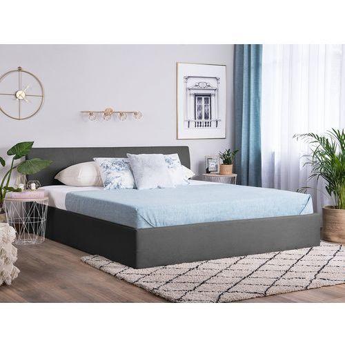 Łóżko szare tapicerowane podnoszony pojemnik 160 x 200 cm orbey marki Beliani