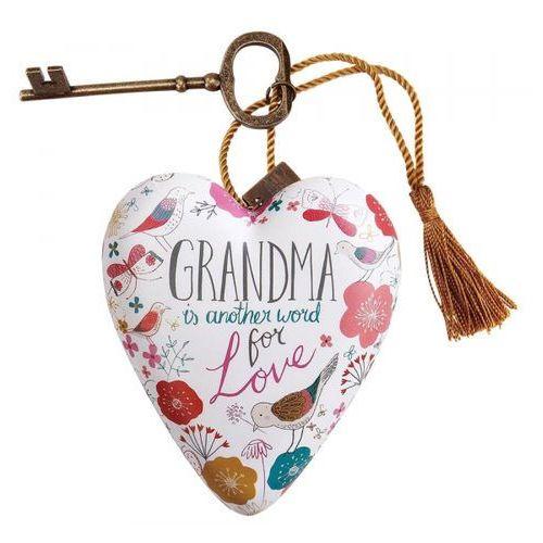 """Serce zawieszka """"Babcia to kolejne słowo miłości"""" Grandma Art Heart 1003480165 figurka ozdoba serce"""