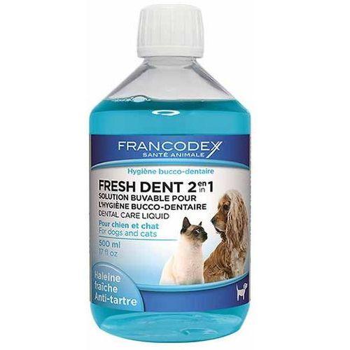 Francodex Fresh Dent Płyn do jamy ustnej dla psów i kotów 250ml
