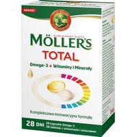 Kapsułki Moller's TOTAL Omega-3 (28 kapsułek) + Witaminy i minerały (28 tabletek)