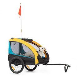 KLARFIT Husky Race, przyczepka rowerowa do przewozu psów, 282 l, 40 kg, płótno Oxford 600D, niebieska