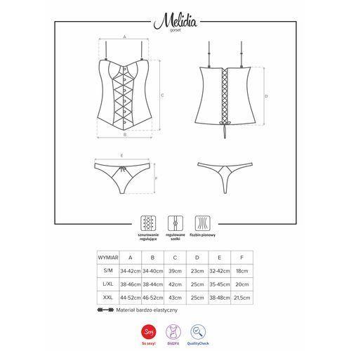 057071ab601485 Melidia gorset i stringi xxl marki Obsessive (pol) ceny opinie i ...