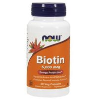 Now Foods Biotyna 5,000mcg 60 kaps.
