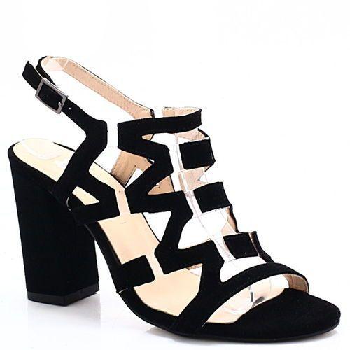 Tymoteo ds-192/a czarne - sandałki z silikonem - czarny