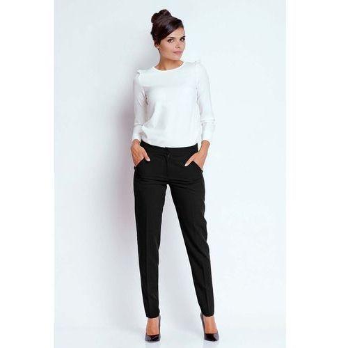 Czarne Eleganckie Spodnie Cygaretki