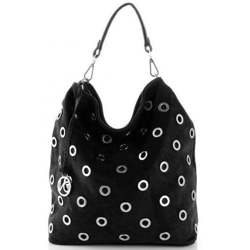 Vittoria gotti modne włoskie torebki skórzane czarna (kolory)