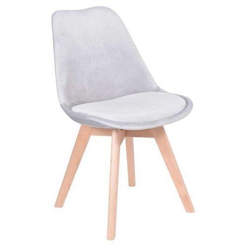 Krzesło hugo aksamit szare marki Krzeslaihokery