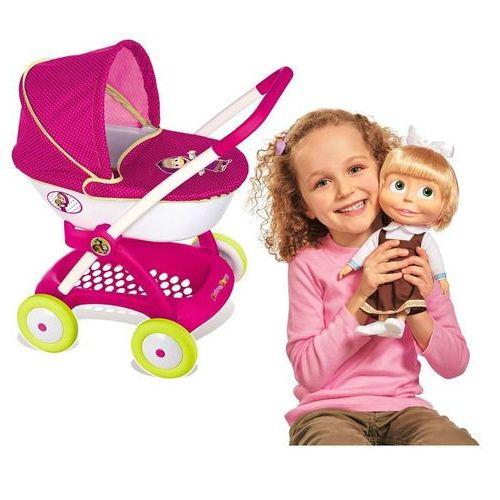 Smoby Masza i niedźwiedź zestaw wózek głęboki dla lalek i śpiewająca lalka masza 30 cm