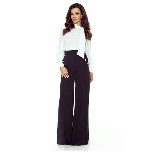 Szerokie spodnie z wysoką talią, kolor czarny