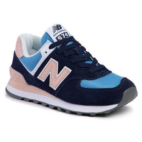 New balance Sneakersy - wl574wnd granatowy kolorowy