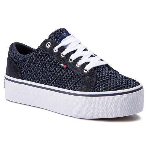 cd362fa92 Tommy jeans Sneakersy - wmn textile city sneaker en0en00409 midnight 403