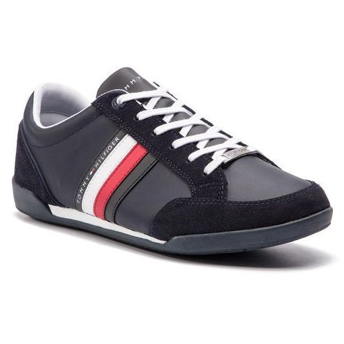 5f86272f5743f Sneakersy TOMMY HILFIGER - Corporate Material Mix Cupsole FM0FM02046  Midnight 403
