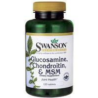 Tabletki Swanson Glukozamina, Chondroityna & MSM 120 tabletek