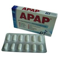 APAP przeciwbólowy, przeciwgorączkowy 12 tabl.