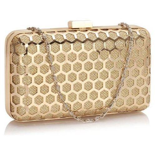 db8e0545ea8b0 Wielka brytania Ekskluzywna złota torebka wieczorowa szkatułka - złoty