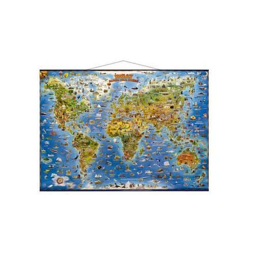 Świat mapa dla dzieci, praca zbiorowa