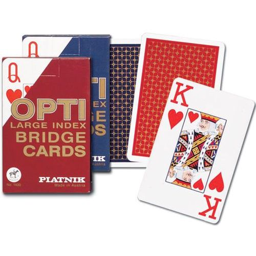 """Karty opti bridge """"l"""" /niebieski rewers/ Piatnik"""