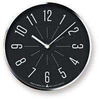 Zegar Awa Jiji czarna tarcza srebrna oprawa (4260278081668)