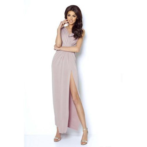 2648a3e2eb57e1 Zobacz w sklepie Różowa wieczorowa sukienka z głębokim dekoltem v, Ivon,  36-40