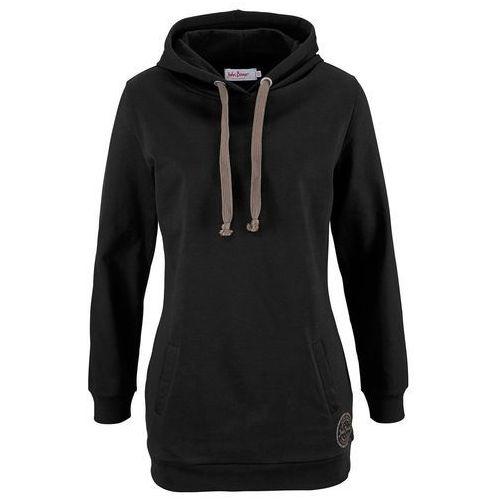 273b0b635af280 Długa bluza z kapturem, długi rękaw czarny (bonprix) opinie + ...