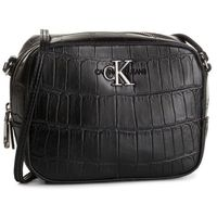 Torebka CALVIN KLEIN JEANS - Ckj Monogram Hw Camera Bag Croc 606430 Fashion Black