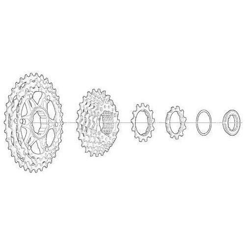 Icshg8110134 kaseta slx cs-hg81-10 10 rz. 11-34t dyna-sys marki Shimano
