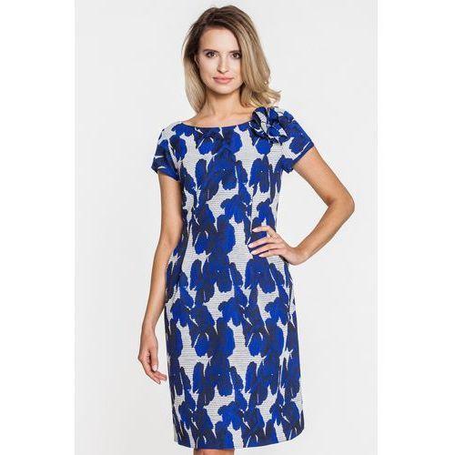 cc01515aea Sukienka wizytowa w niebieski