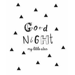Plakat dekoracyjny, naklejka GOOD NIGHT - 30x40 cm