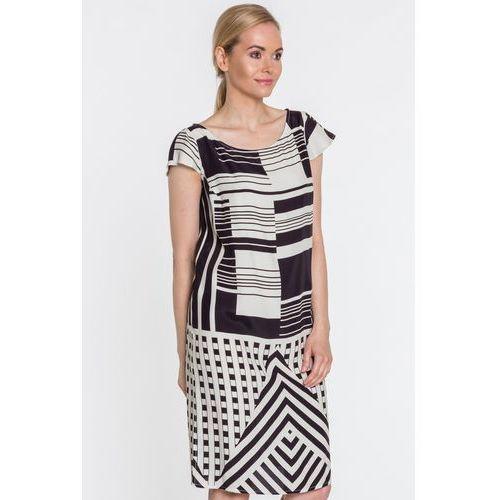 0d24eff768 Sukienka w geometryczny wzór - Metafora