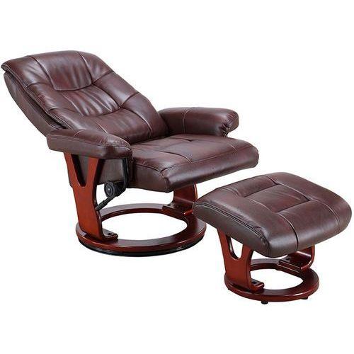 Brązowy Fotel Masujący Wypoczynkowy Biurowy Masaż Grzanie Brązowy Regoline