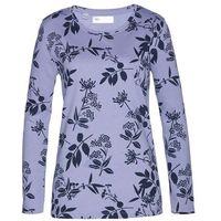 Bluza dresowa bonprix jasny lawendowy - ciemnoniebieski w kwiaty