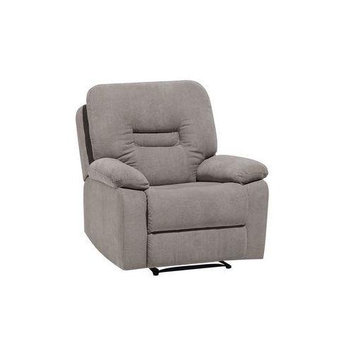 Fotel tapicerowany beżowoszary rozkładany BERGEN