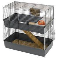 Ferplast Rabbit 100 Double dwupiętrowa klatka dla królika z wyposażeniem (57046817)